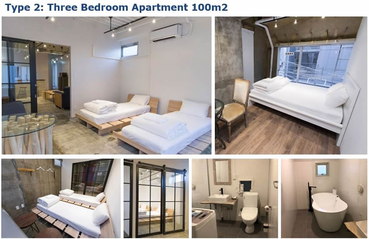 The apartments are located next to the Imperial Palace Gardens, the Heritage Zone & the Bay Area Zone. Ideal Accommodation for the 2020 Olympic Games.