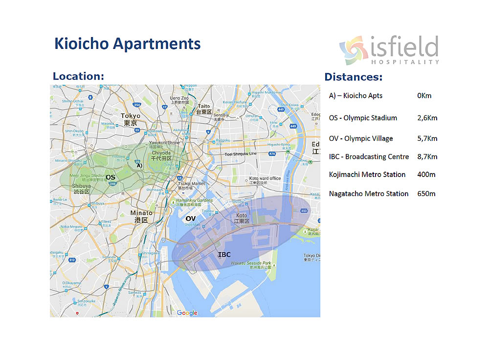 Kioicho Apartments at Chiyoda - Accommodation for the Tokyo 2020 Olympics